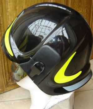 photo de profil du casque noir italie sicor